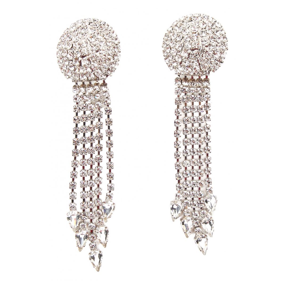 Alessandra Rich N Silver Metal Earrings for Women N