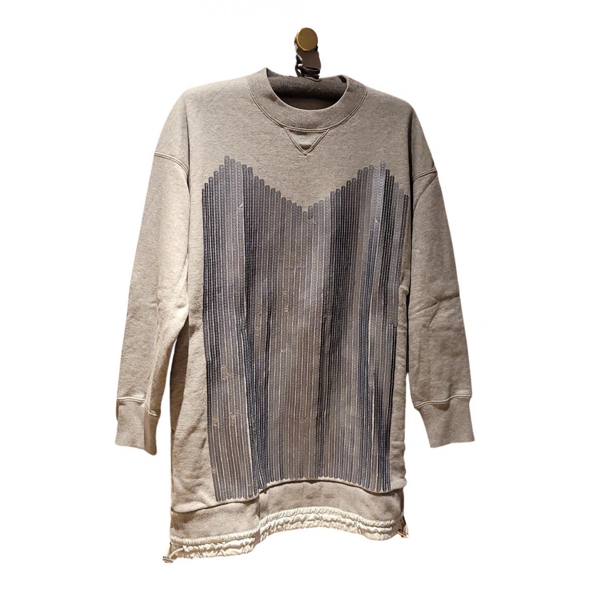 Sacai \N Kleid in  Grau Baumwolle