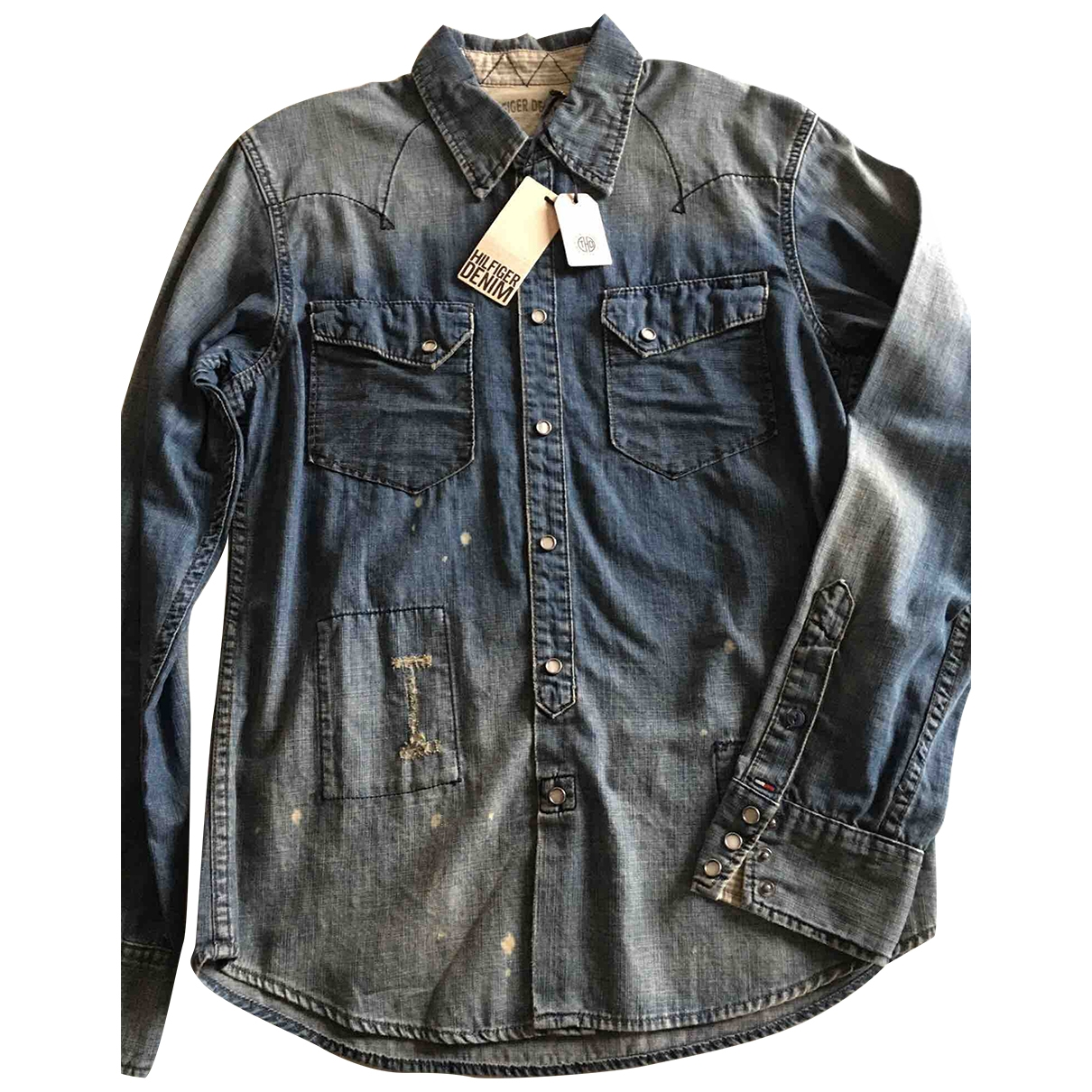 Tommy Hilfiger \N Blue Denim - Jeans Shirts for Men M International