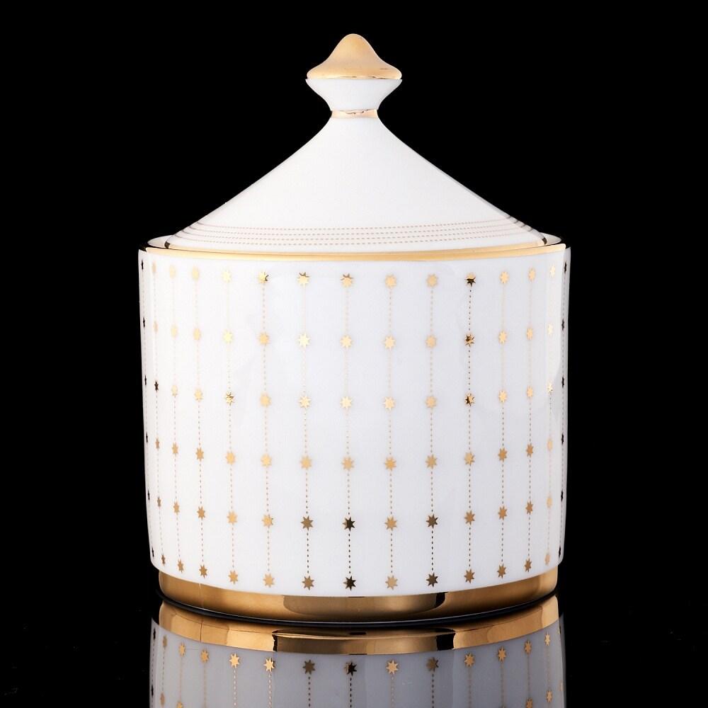 Imperial Porcelain Factory Azure Gold Bone Cnina Sugar Bowl (Multi)
