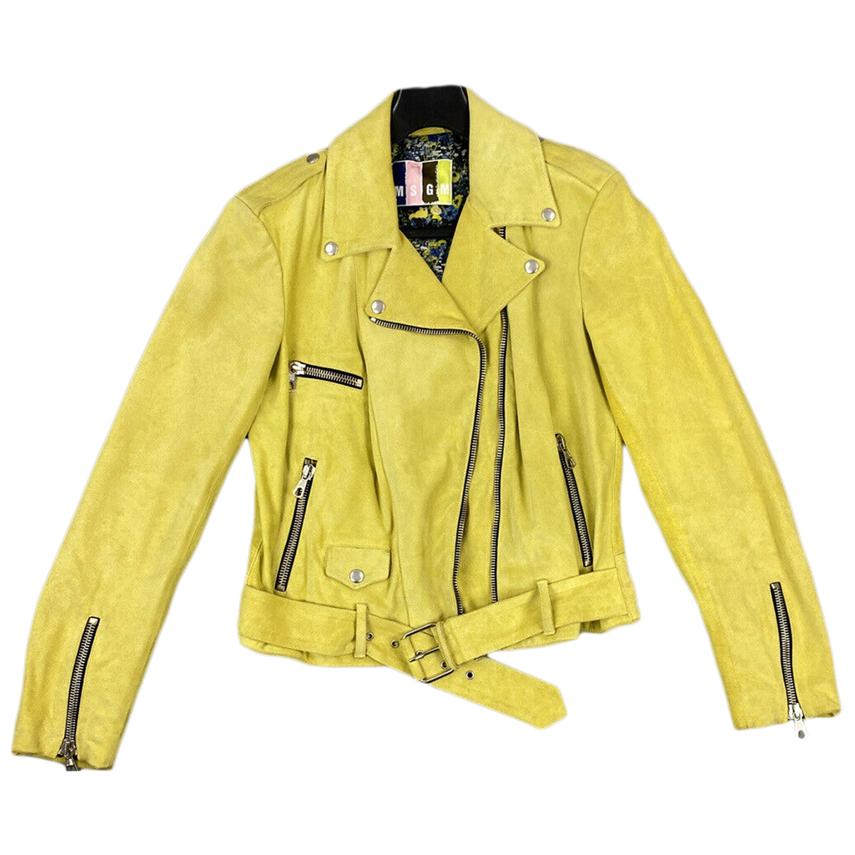Msgm \N Green Leather jacket for Women 44 IT