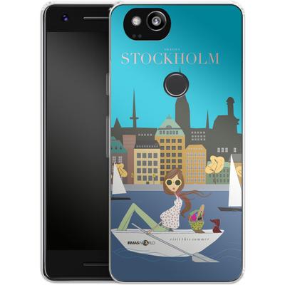 Google Pixel 2 Silikon Handyhuelle - STOCKHOLM TRAVEL POSTER von IRMA