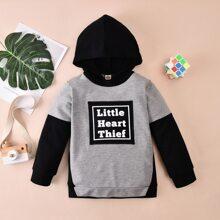 Sudaderas para niño pequeño Letras Casual