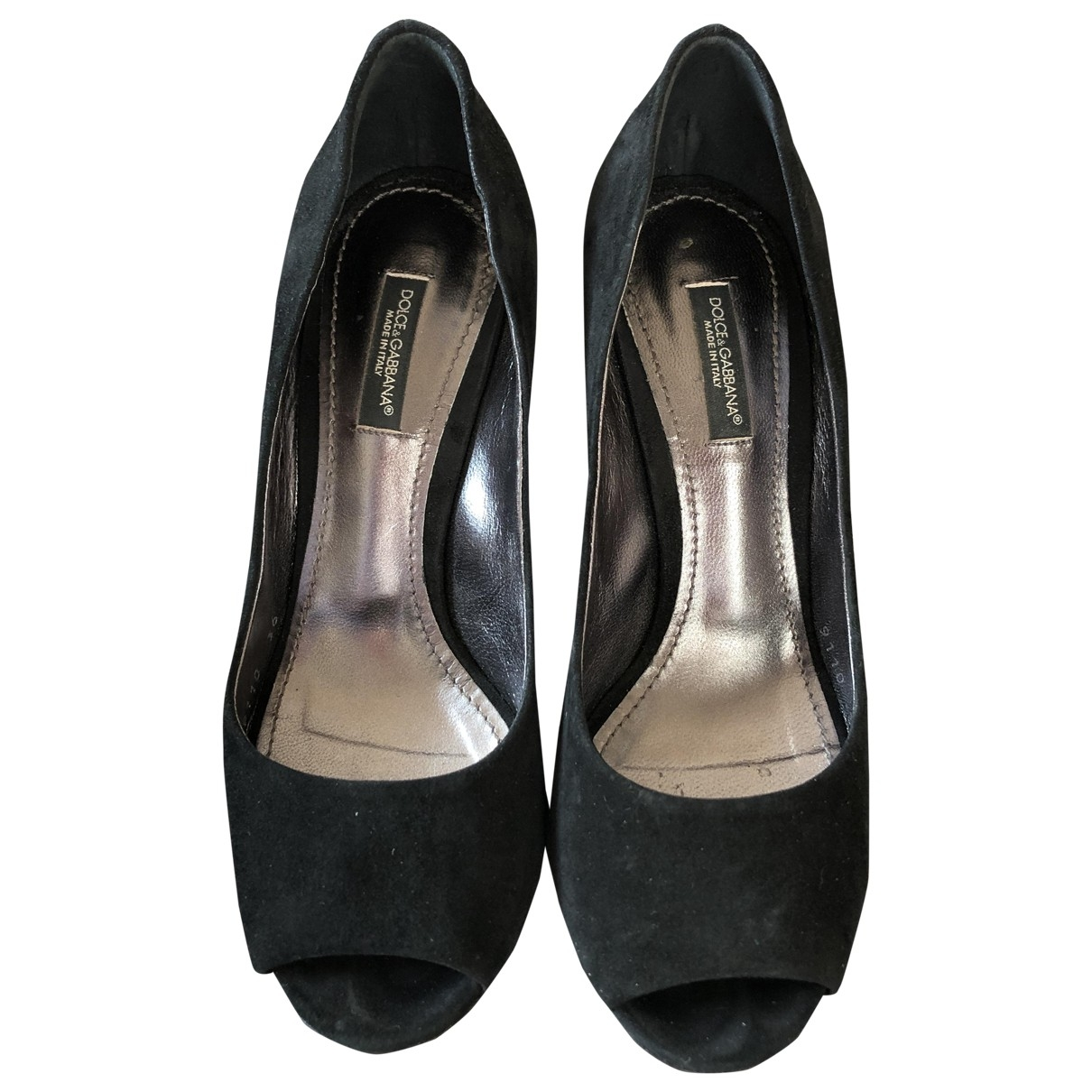 D&g \N Black Suede Heels for Women 36 EU