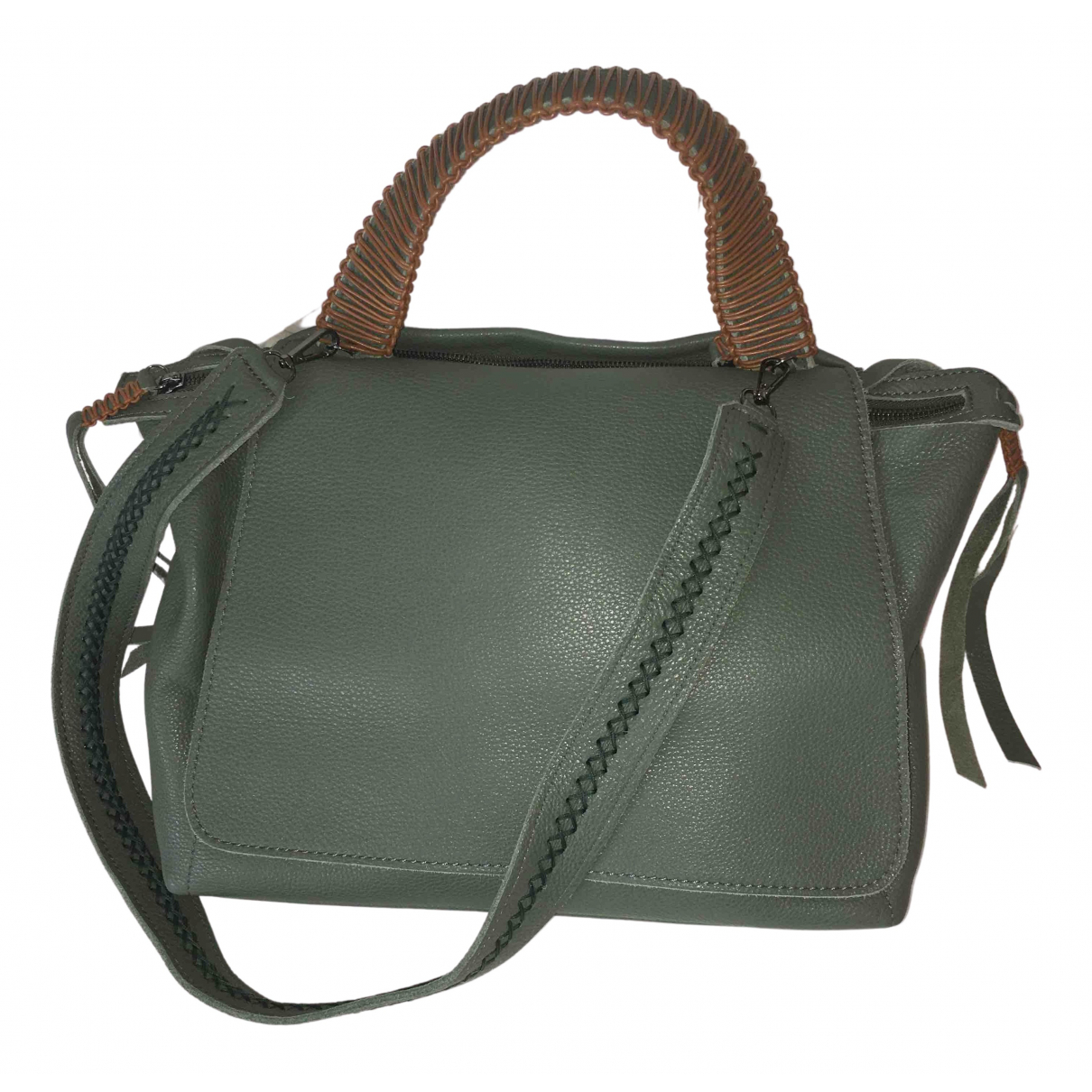 Callista Crafts N Green Leather handbag for Women N
