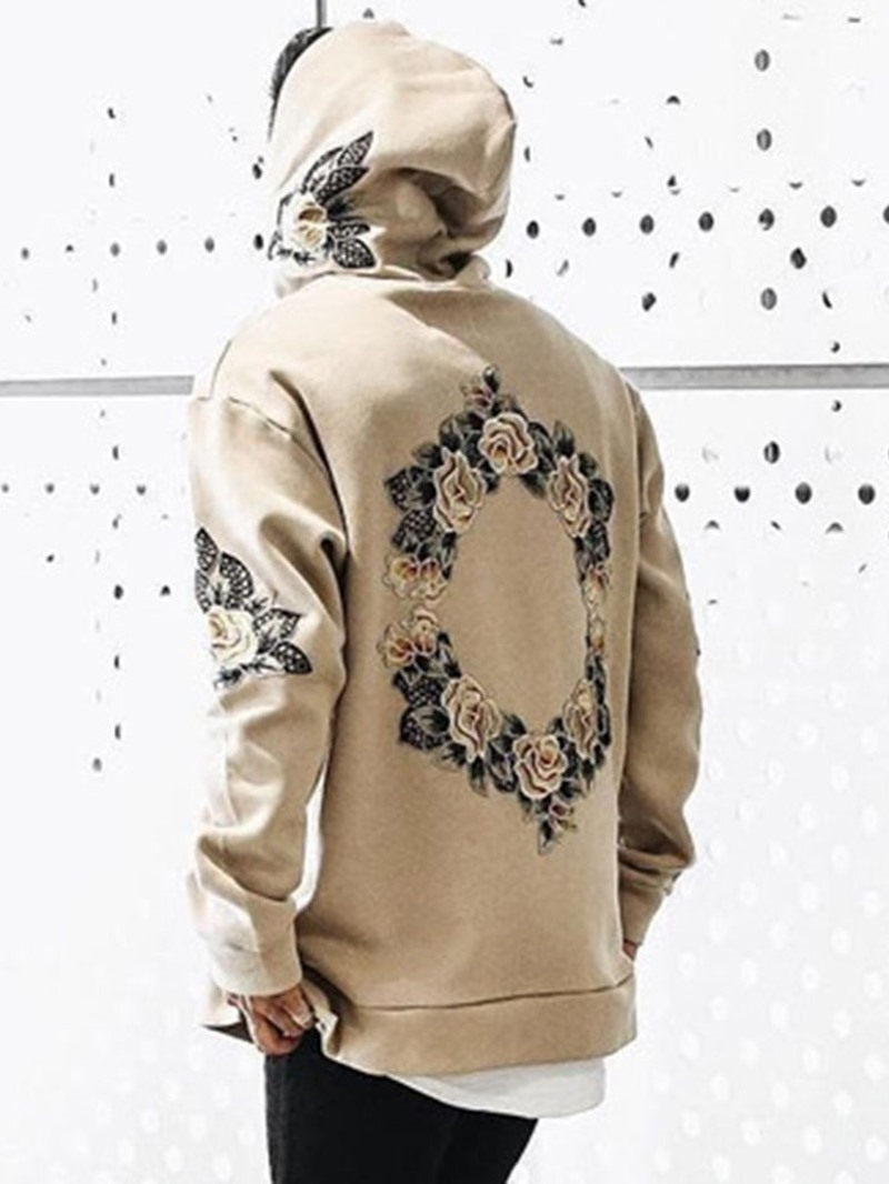 Ericdress Floral Pullover Pullover Slim Hoodies
