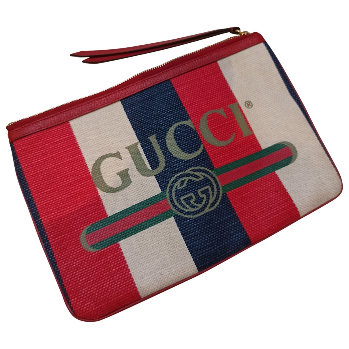 Gucci - Pochette   pour femme en coton - rouge