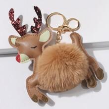 Schluesselbund mit Weihnachten Hirsch Design