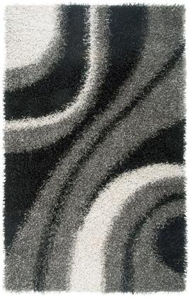 KNMKM232300330810 Kempton KM2323-8' x 10' Hand-Tufted 100% Polyester Rug in Gray  Rectangle