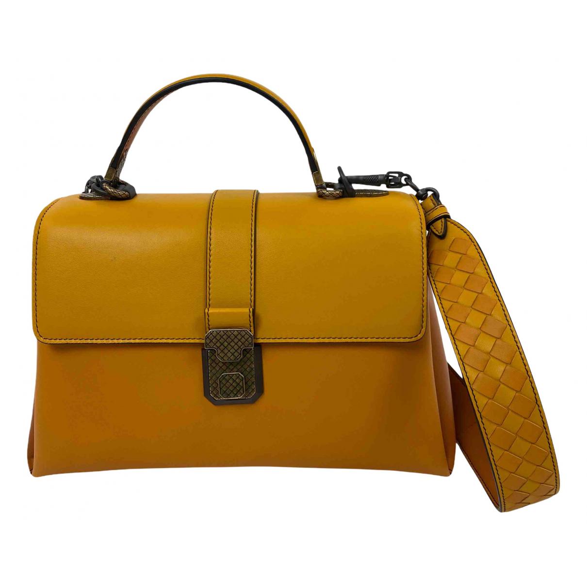 Bottega Veneta - Sac a main Piazza pour femme en cuir - jaune