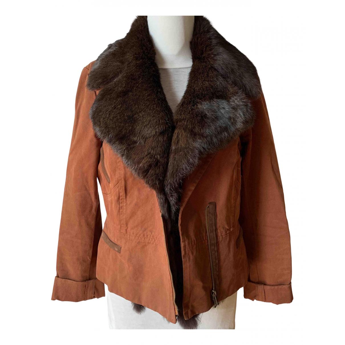 - Veste   pour femme en castor - marron