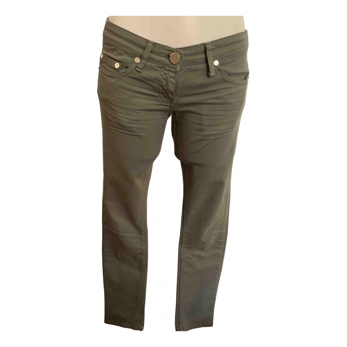 Elisabetta Franchi \N Green Cotton - elasthane Jeans for Women 38 FR