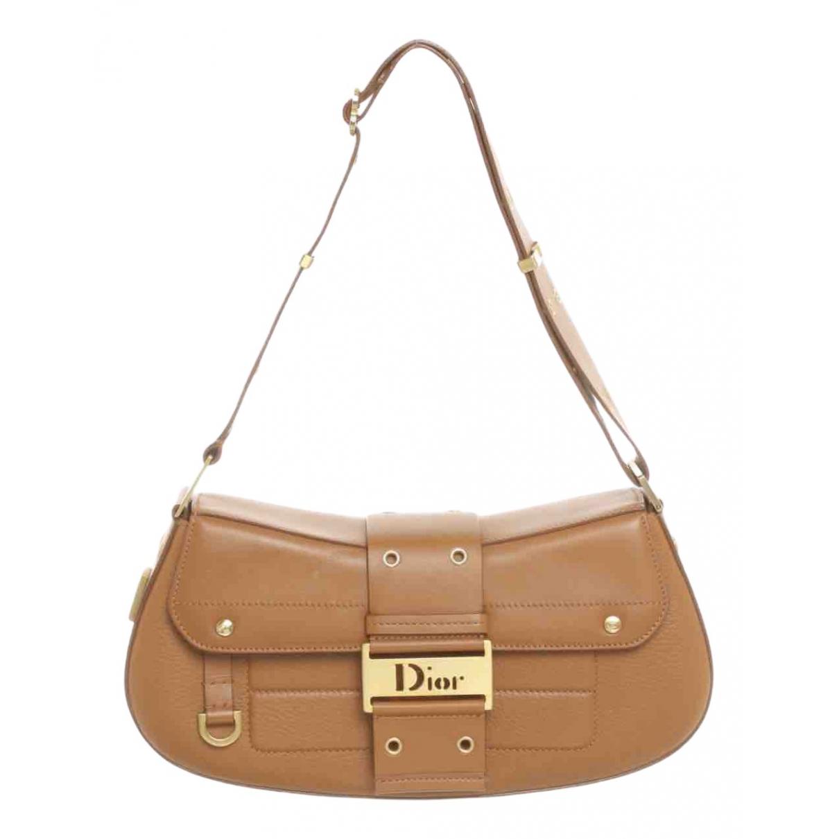 Dior Columbus Handtasche in  Kamel Leder