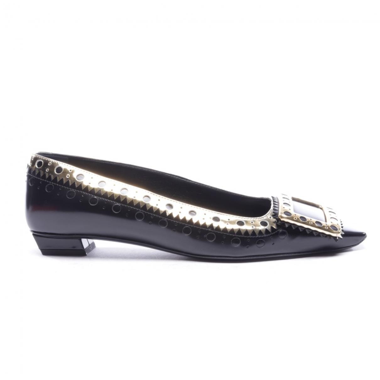 Roger Vivier \N Black Leather Heels for Women 37 EU