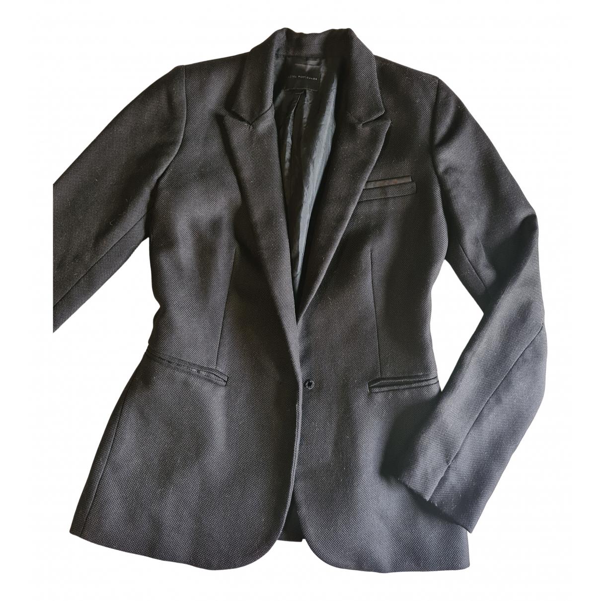 Hotel Particulier - Veste   pour femme en laine - noir