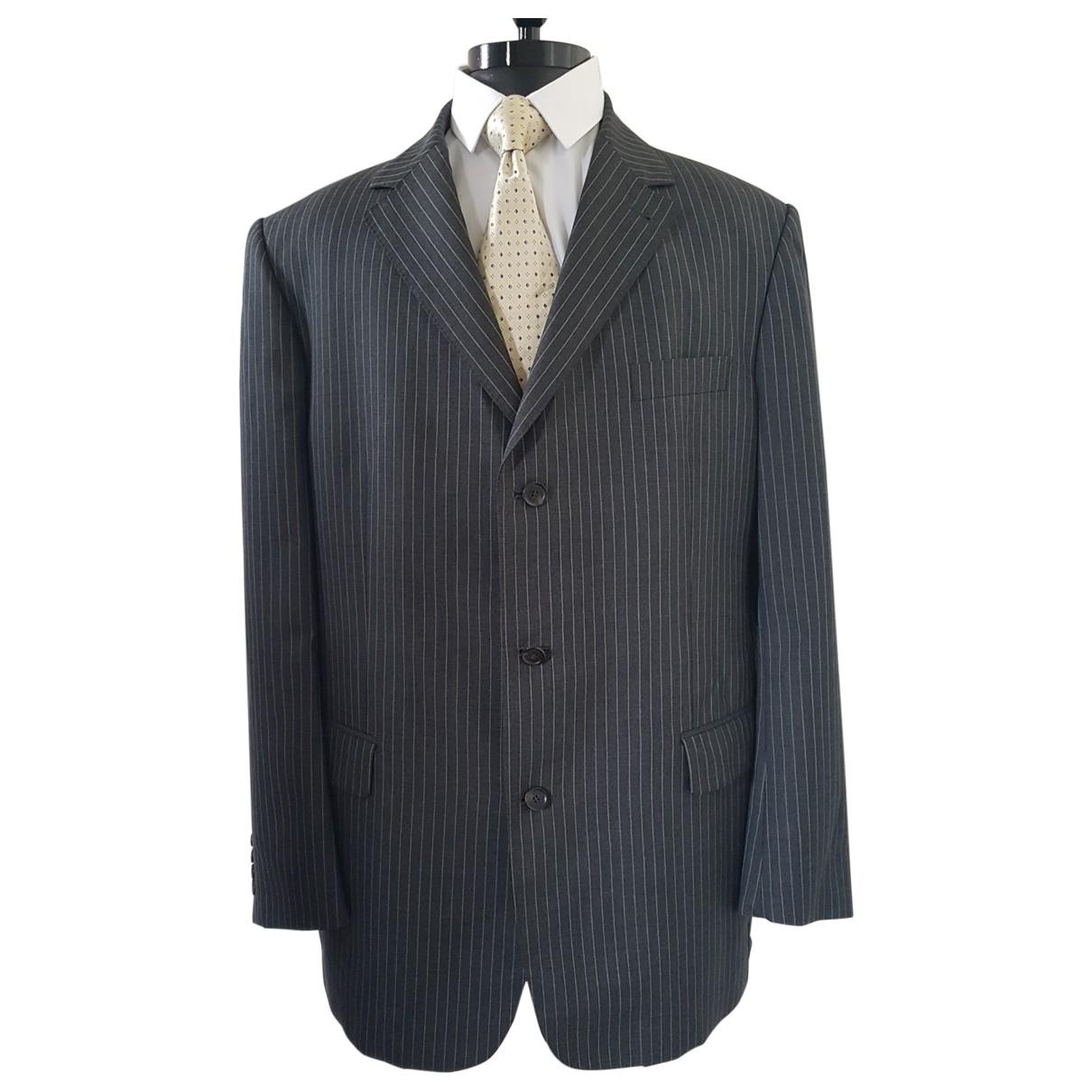 Burberry \N Grey Wool jacket  for Men 56 FR