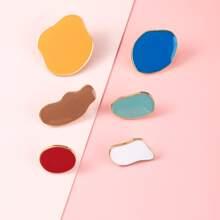 6pcs Geometric Shaped Stud Earrings