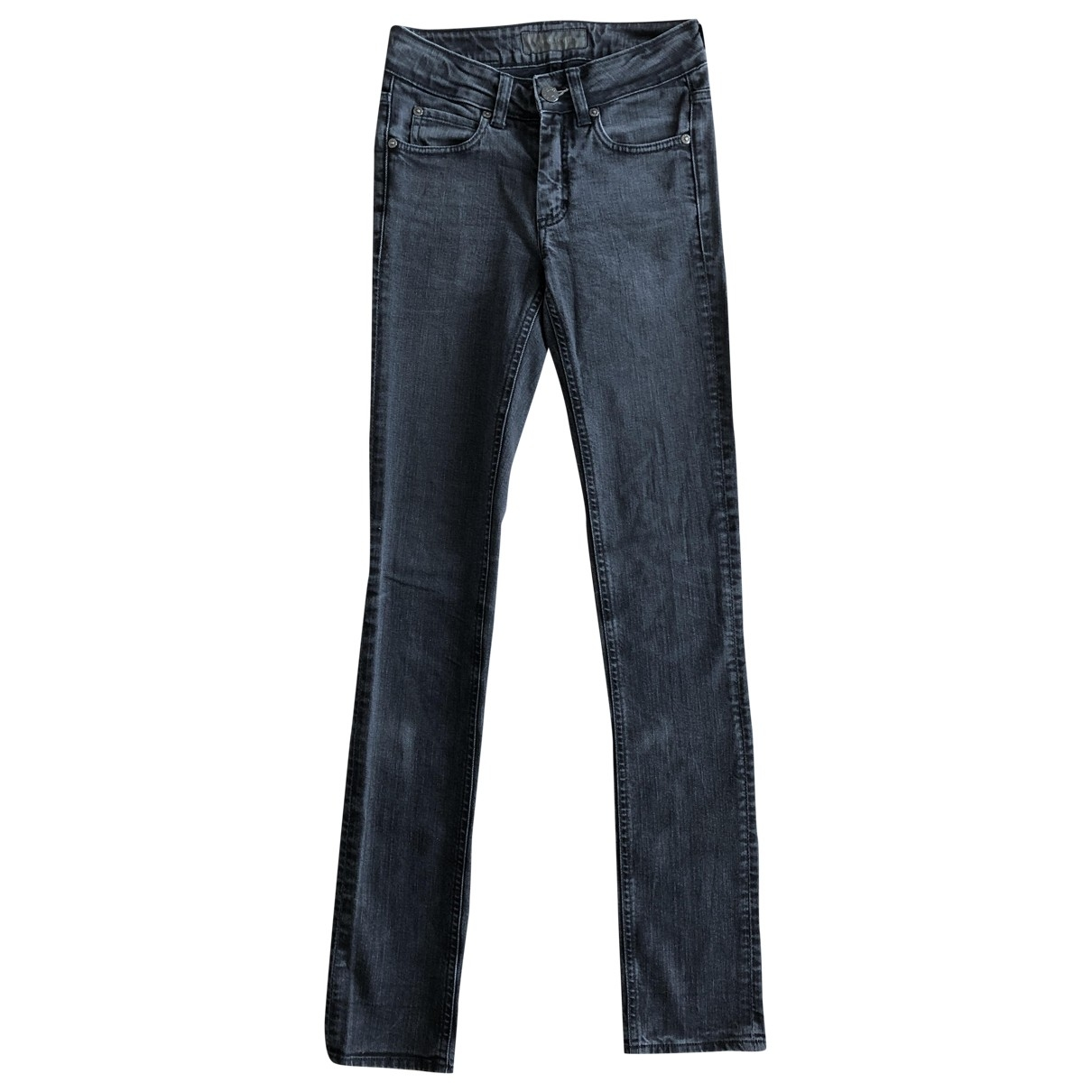 Acne Studios \N Grey Cotton - elasthane Jeans for Women 32 FR