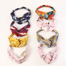 8pcs Flower Pattern Headband