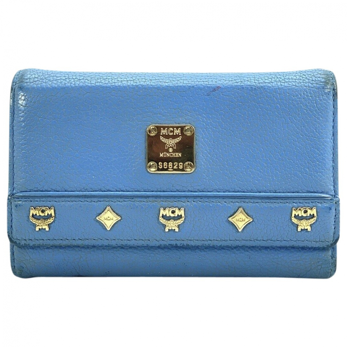 Mcm \N Blue Leather wallet for Women \N