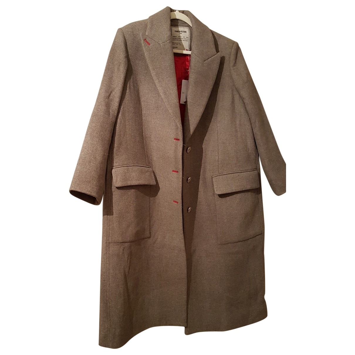 Zadig & Voltaire \N Beige Wool coat for Women L International