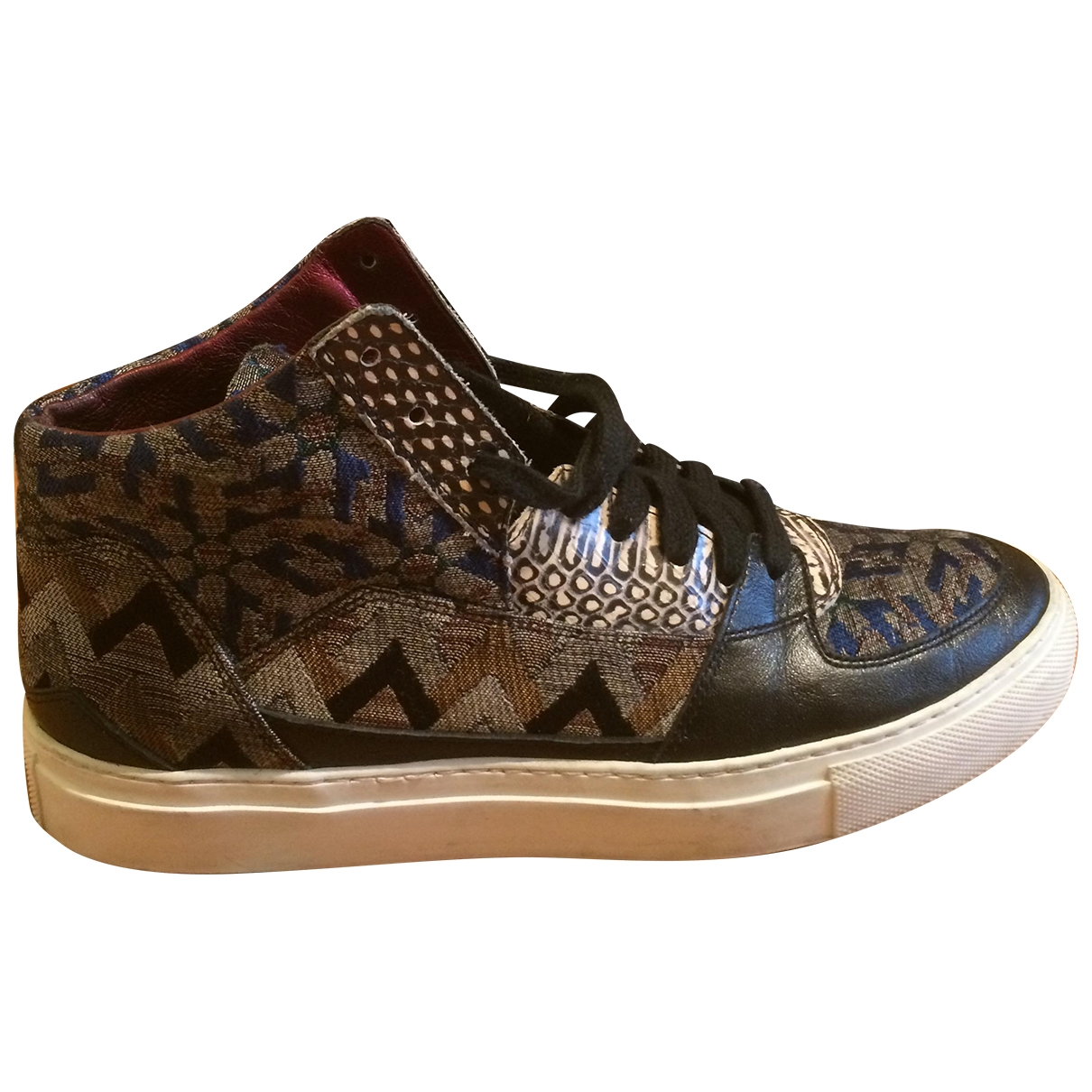 Dries Van Noten - Baskets   pour femme en cuir