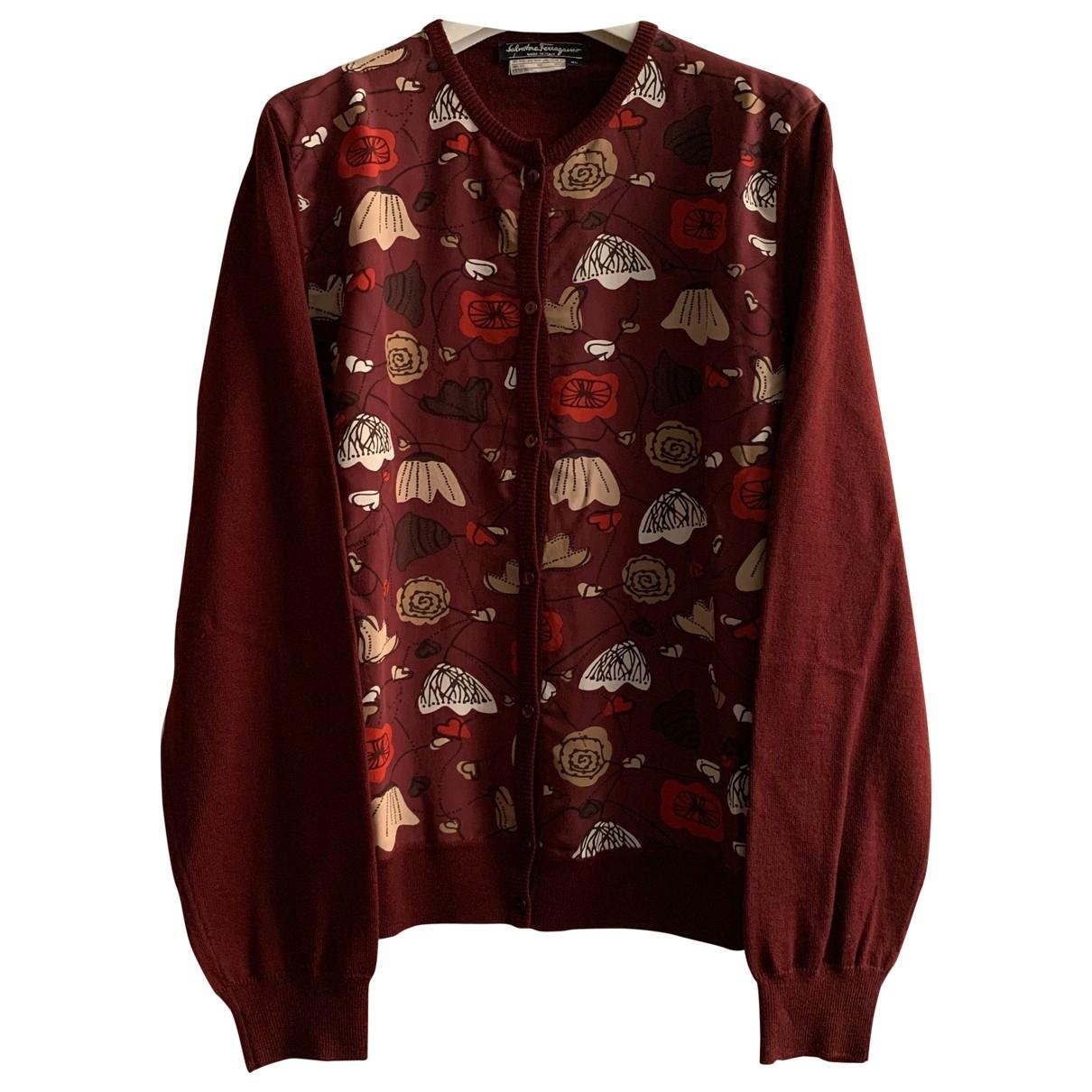 Salvatore Ferragamo \N Burgundy Wool Knitwear for Women XL International