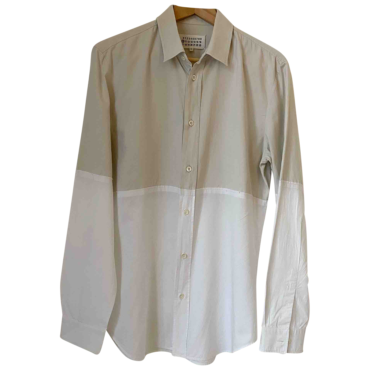 Maison Martin Margiela \N Beige Cotton Shirts for Men M International