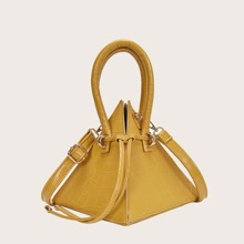 Crocodile Triangle Satchel Bag