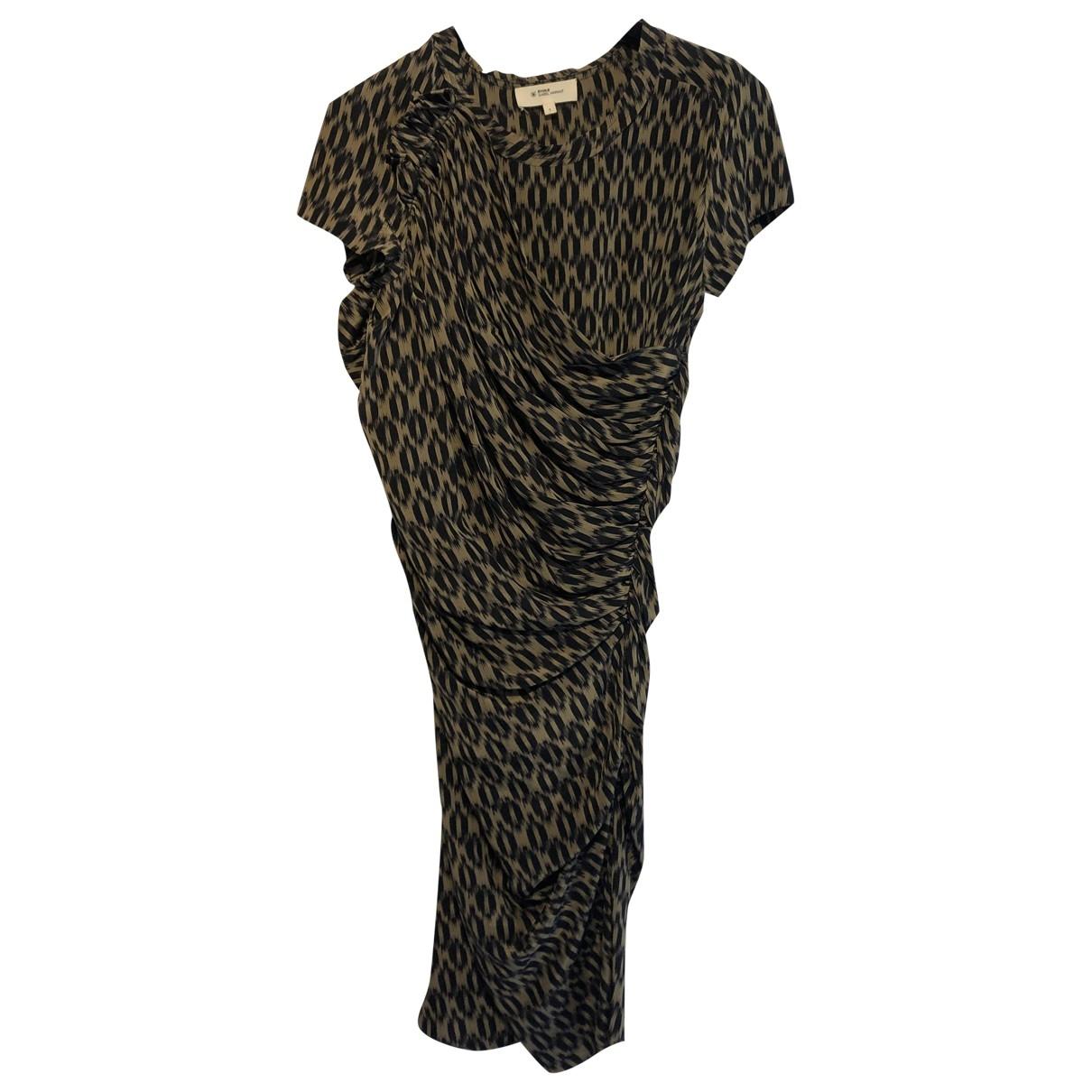 Isabel Marant Etoile \N Khaki Silk dress for Women 36 FR