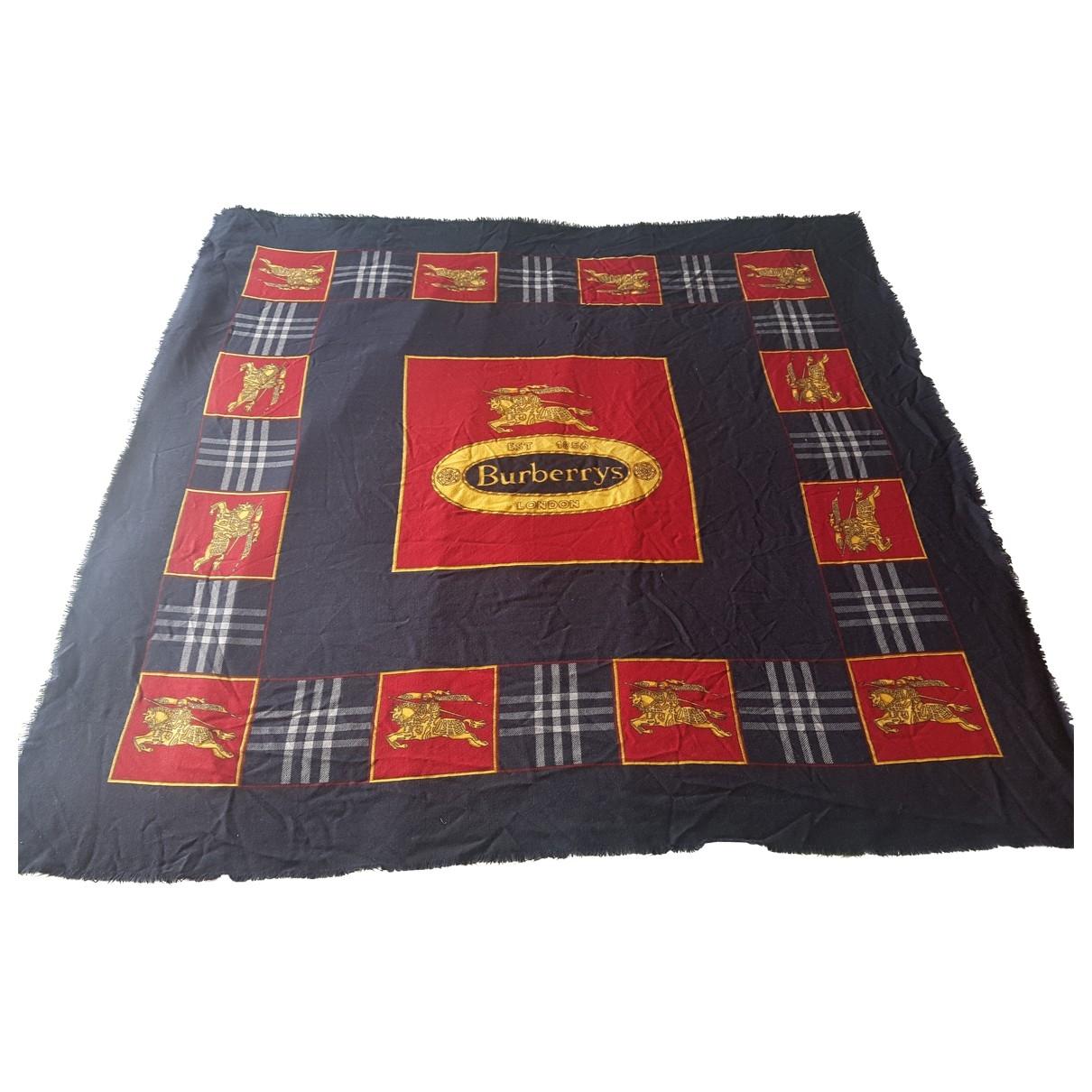 Burberry \N Navy Wool scarf for Women \N