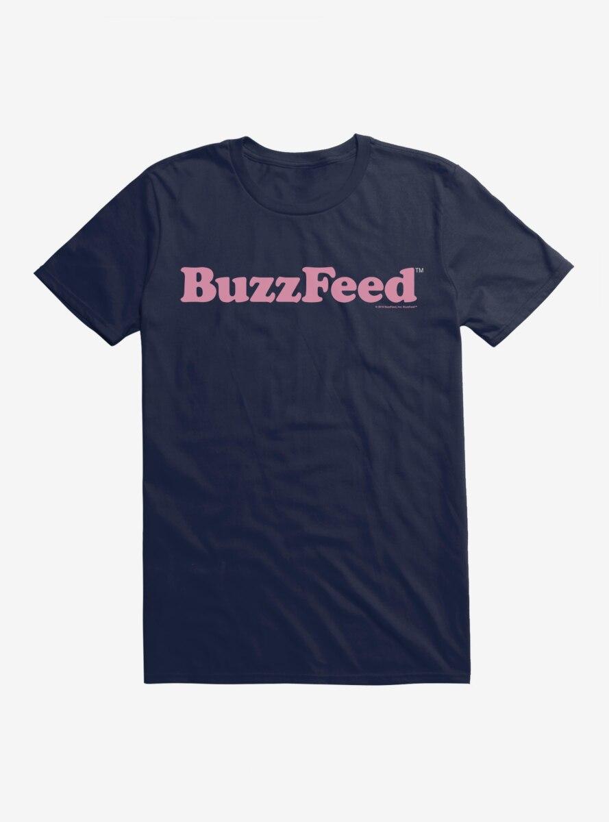 Buzzfeed Pink Name Logo T-Shirt