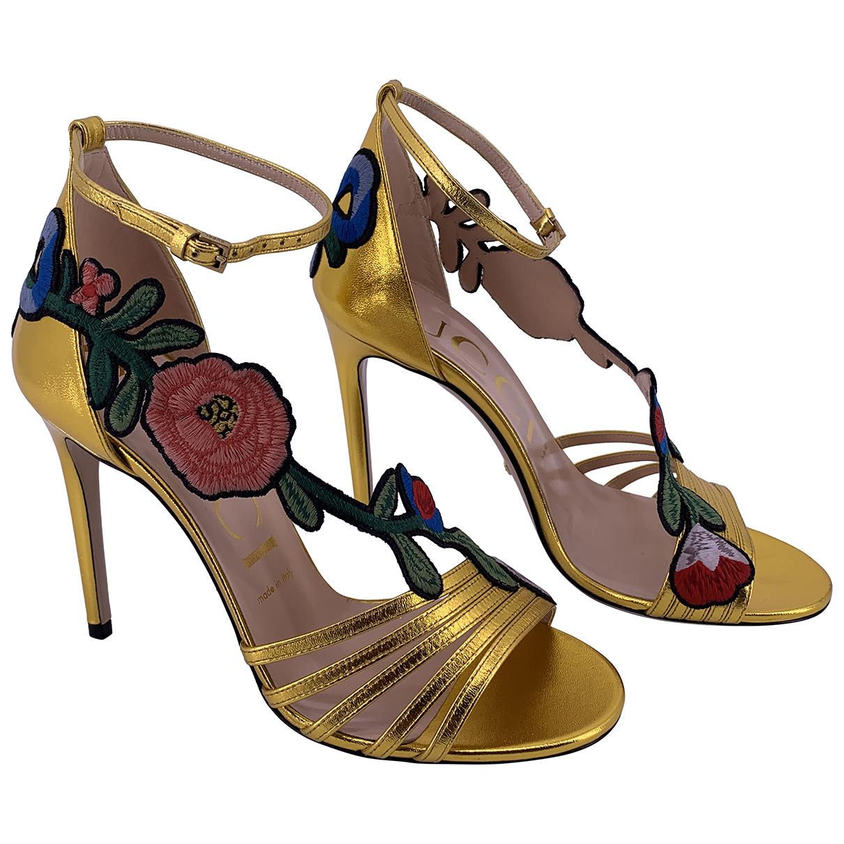 Gucci - Escarpins   pour femme en cuir - dore