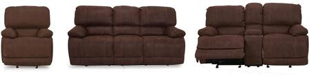 Concord Collection 3 PC Living Room Set with Power Recline Sofa + Power Recline Loveseat + Power Recliner in Brown