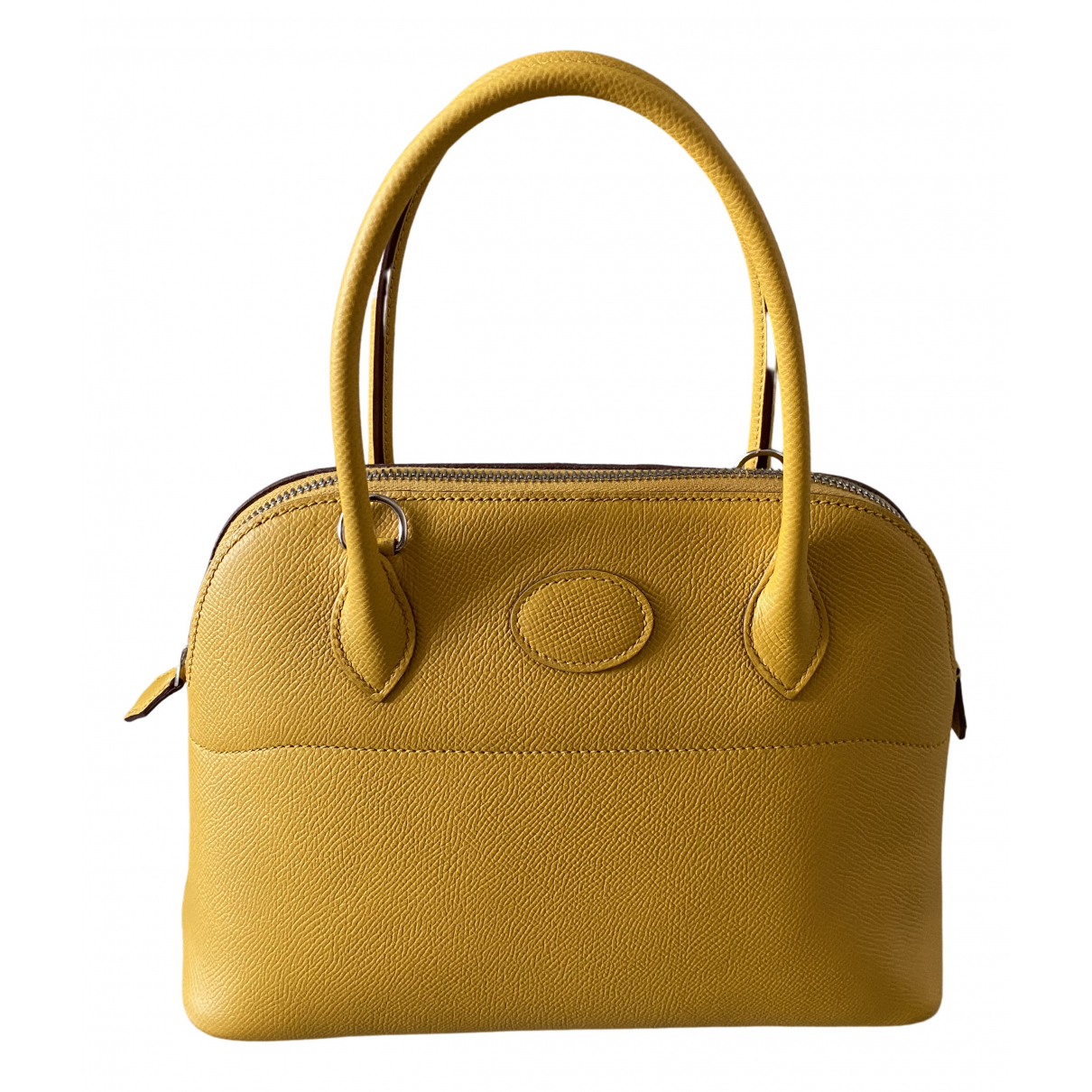 Hermes - Sac a main Bolide pour femme en cuir - jaune