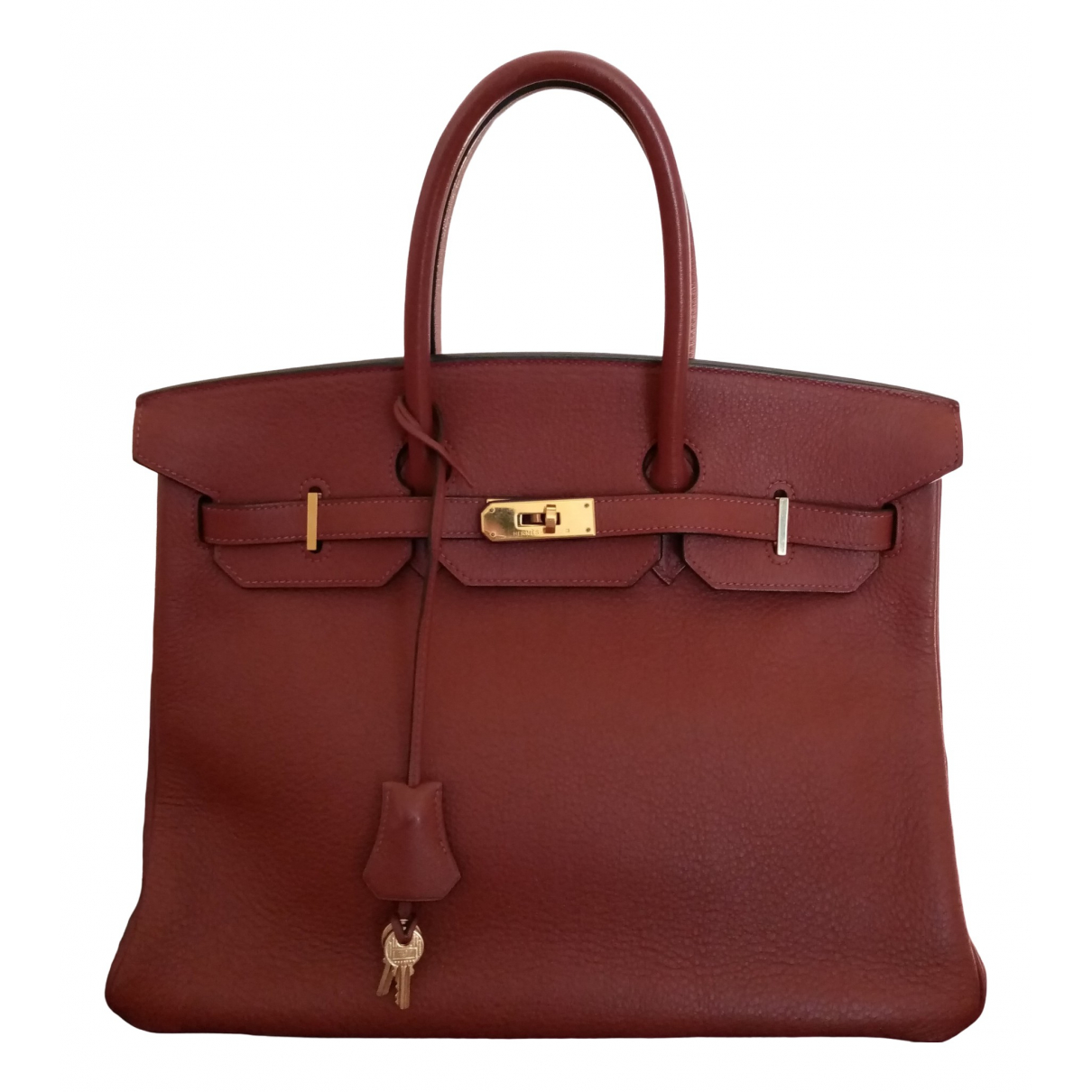Hermès Birkin 30 Burgundy Leather handbag for Women \N