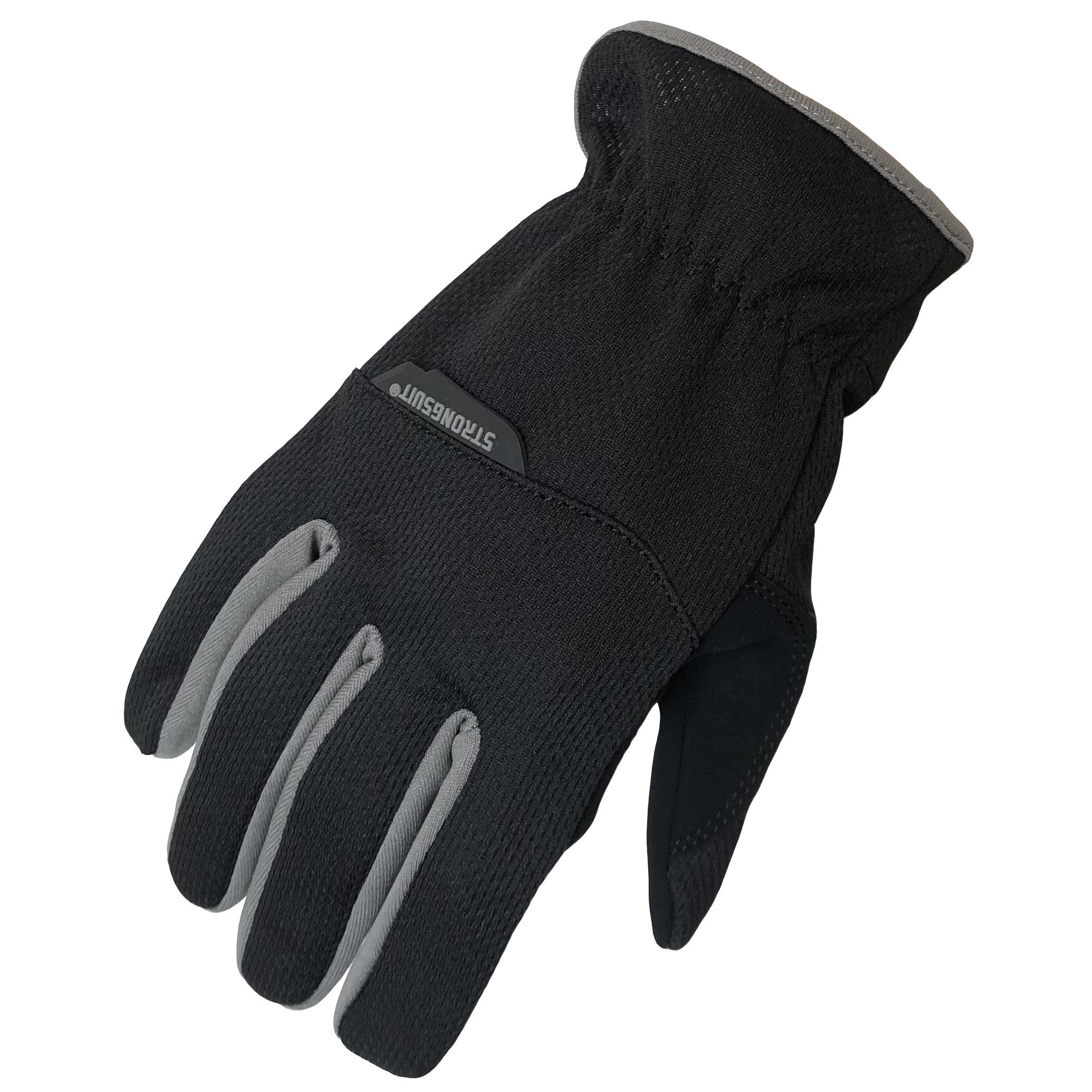 SlipOn Gloves, Black, Medium