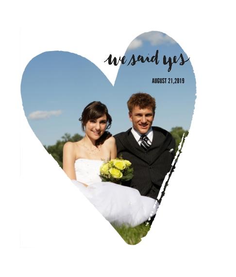 Wedding Framed Canvas Print, Chocolate, 8x10, Home Décor -We Said Yes
