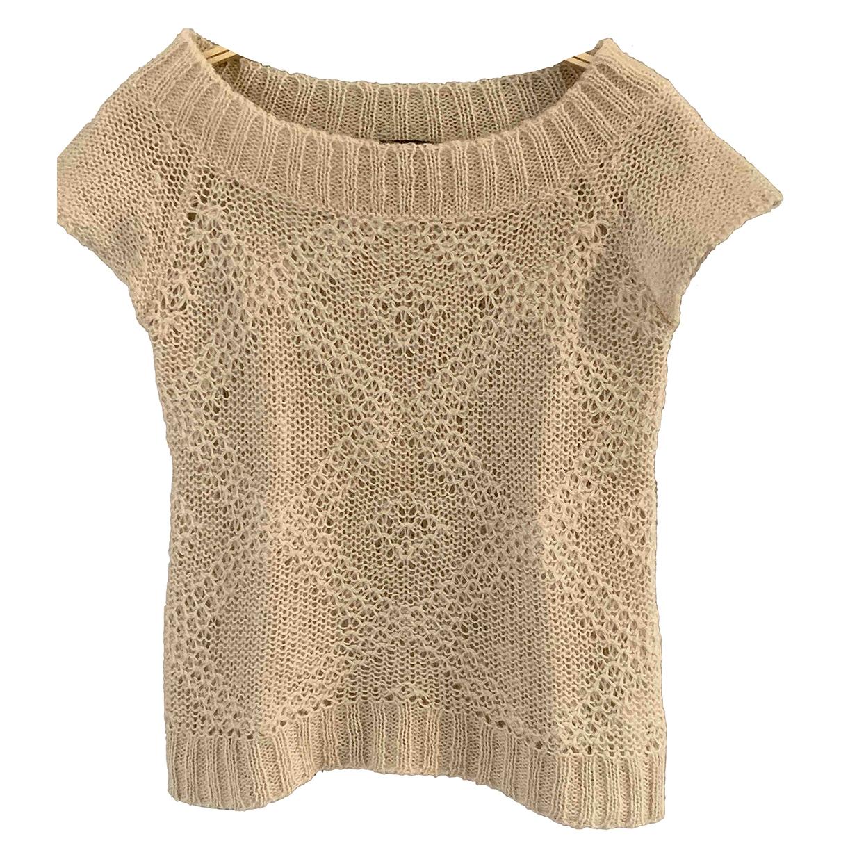 Zara \N Pullover in  Ecru Wolle