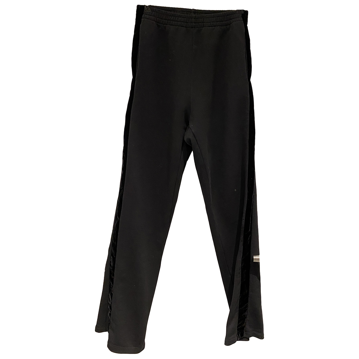 Givenchy \N Black Cotton Trousers for Women 38 FR