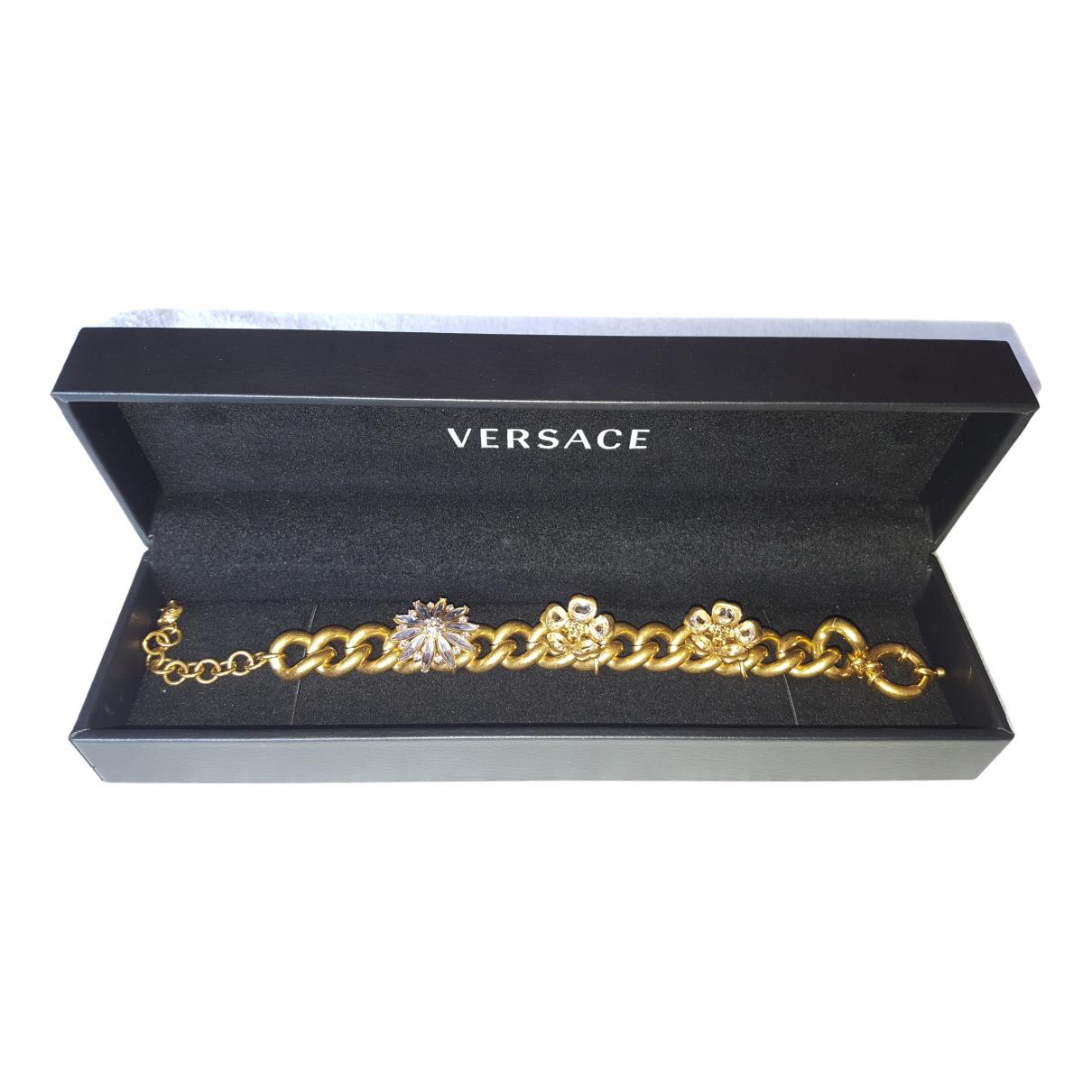 Versace - Bracelet   pour femme en metal - dore