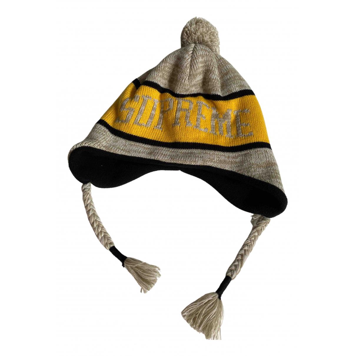 Supreme - Chapeau & Bonnets   pour homme - jaune