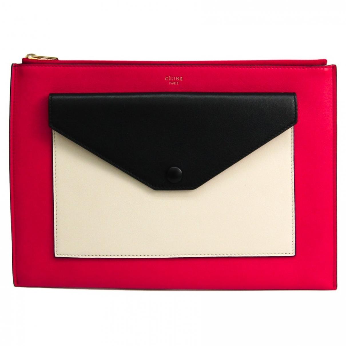 Celine \N Pink Leather Clutch bag for Women \N