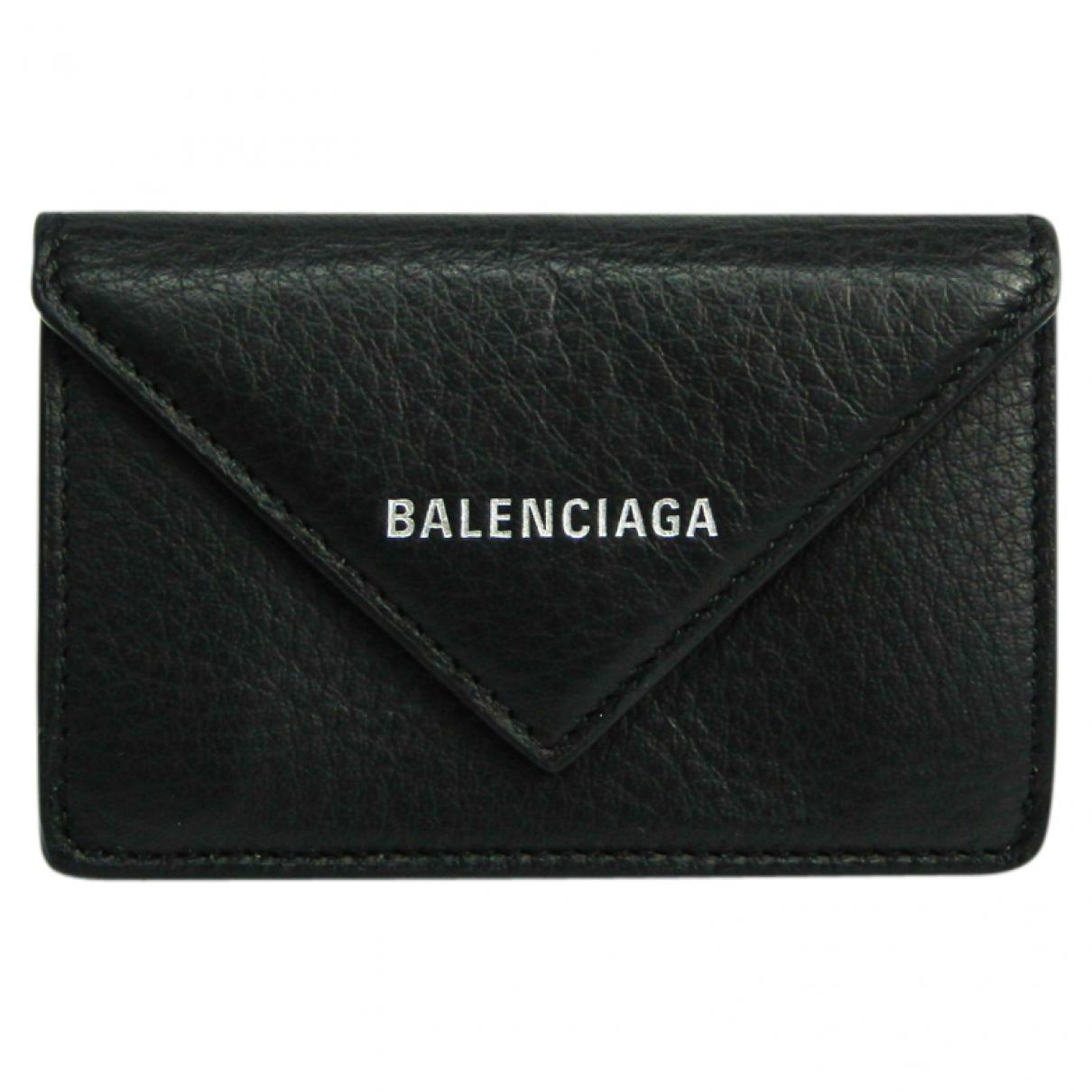 Balenciaga N Black Leather wallet for Women N
