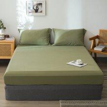 Einfarbige Bettdecke