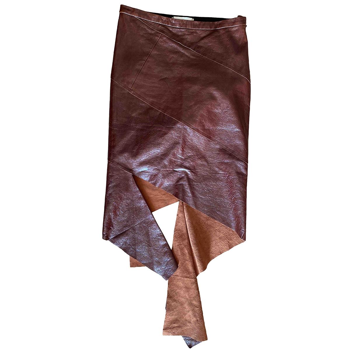 Litkovskaya - Jupe   pour femme en cuir - marron