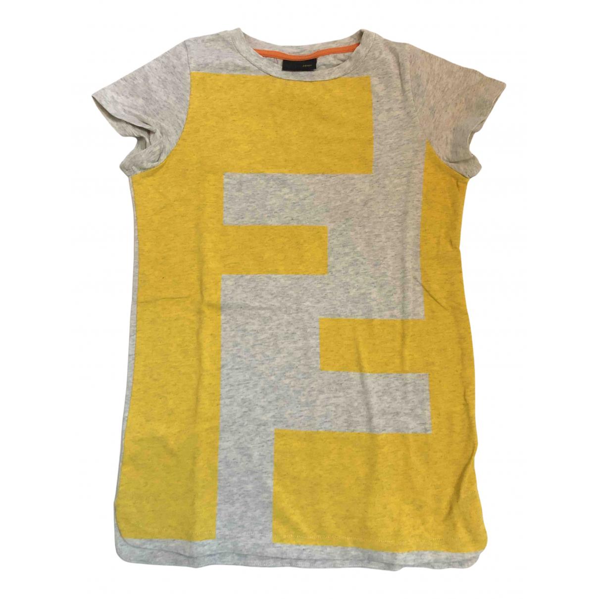 Fendi - Top   pour enfant en coton - gris