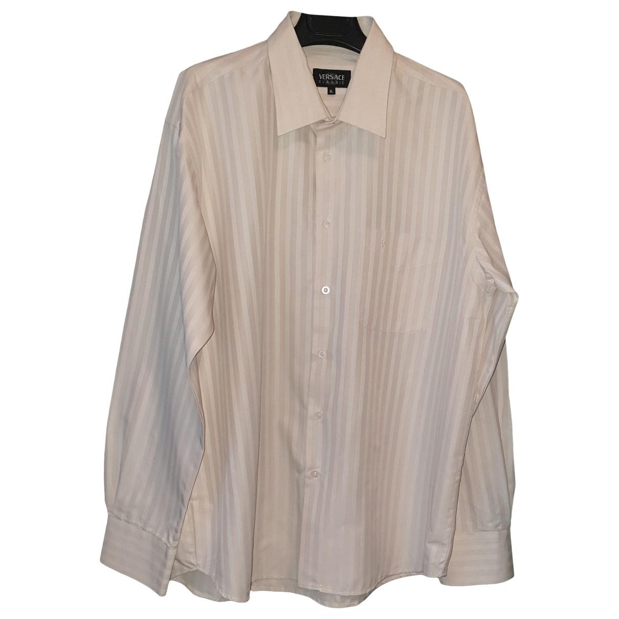 Versace - Chemises   pour homme en coton - beige