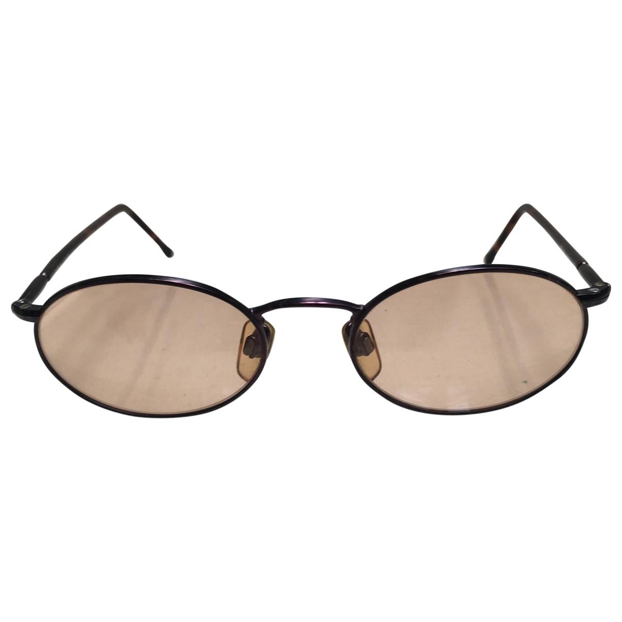 Giorgio Armani \N Brown Metal Sunglasses for Men \N