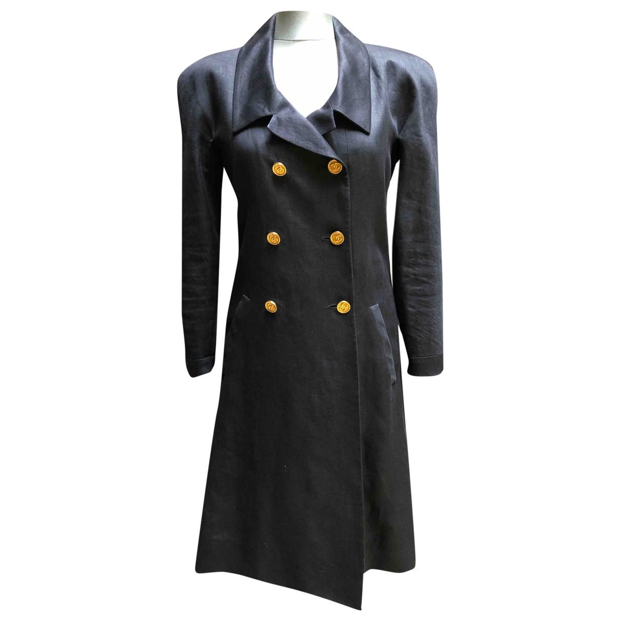 Chanel \N Black Linen jacket for Women 40 FR